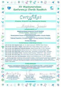 certyfikat dr Janeczko
