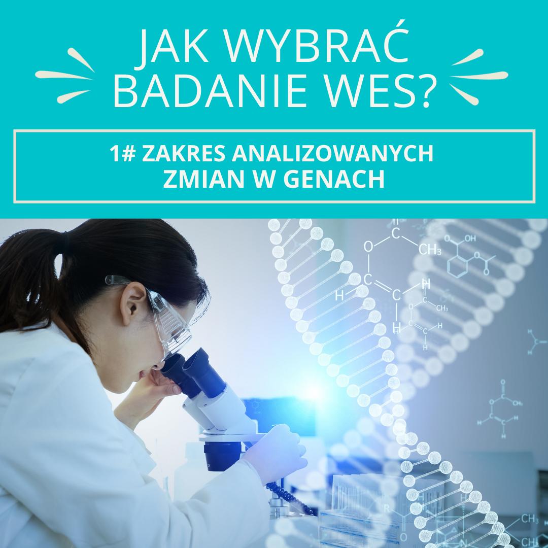 Jak wybrać badanie WES?